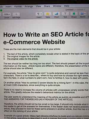 Original image for SEO articles