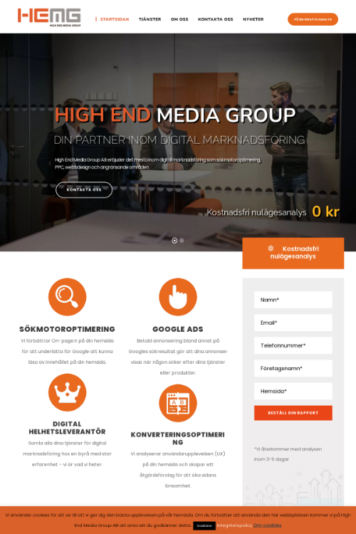highendmedia.se - keywords and competitors